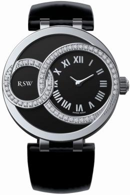 RSW Ladies 6025.BS.L1.12.D1 Wonderland Round Collection Black Dial Watch